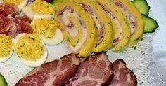 Nálunk egy évben többször is kerül az asztalra tojástekercs. Legyen az karácsony, szilveszter, születésnapi zsúr, - baráti öss... Sausage, Appetizers, Meat, Food, Sausages, Essen, Appetizer, Yemek, Hors D'oeuvres