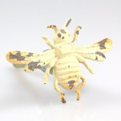 "BESTSELLER: Whitewashed Bee. 2"" wide.   Product Review: ""I recently purchased the antique metal bee knobs. They are unique and perfect for my 6 pantry doors that we just had custom made. Thank you!"" – 6/22/15.    Sold in packs of 2."