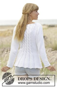 Romantic Twist Free Cable and Peplum Cardigan Knit Pattern ⋆ Knitting Bee Knit Cardigan Pattern, Crochet Jacket, Sweater Knitting Patterns, Knitting Designs, Knit Patterns, Free Knitting, Cable Cardigan, Hooded Cardigan, Pull Crochet