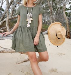The Grace Dress - Linen, Etsy