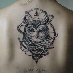 Owl by Teti Malik, via Behance