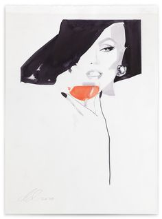 FASHION WORLD: DAVID DOWNTON -ILLUSTRATION
