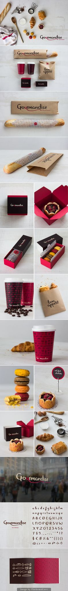 Gourmandise Belgian Bakery on Behance (no link sorry) PD