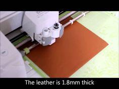 Cutting leather on the Cricut Explore