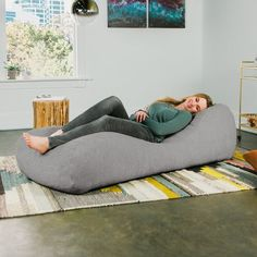 Shop for Jaxx Arlo Bean Bag Chaise Lounge Chair with Chenille Cover. Get free delivery On EVERYTHING* Overstock - Your Online Furniture Outlet Store! Small Bean Bags, Small Bean Bag Chairs, Cool Bean Bags, Bean Bag Lounger, Bean Bag Sofa, Bean Bag Lounge Chair, Eames, Deco Design, Design Design
