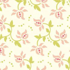 Clearance Sale - Freshcut by Heather Bailey for Free Spirit Fabrics - Dittybud in Pink - Yard Green Rose, Pink And Green, Artsy Background, Heather Bailey, Sew Mama Sew, Free Spirit Fabrics, Rose Buds, Pattern Wallpaper, Ideas