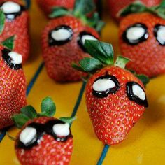 Spider Man inspired snack! Too cute love this idea - Visit to grab an amazing super hero shirt now on sale!