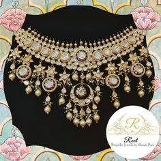 Our new Polki bridal jewellery range is flawlessly designed to go well with any style and colour of wedding dresses and provide for rich… Fancy Jewellery, Royal Jewelry, India Jewelry, Gold Jewellery Design, Fine Jewelry, Gold Jewelry, Jewlery, Indian Bridal Jewelry Sets, Wedding Jewelry