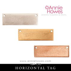 New to AnnieHowes on Etsy: Metal Stamping Blank - Flat Tag Horizontal Metal Tag (3.00 USD)