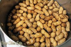 salted and roasted peanuts in brine