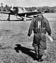 Zero foghter Pilot in Tarakan Island, 1942.