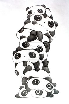 Tare Panda Pile Variation 2 by ~Choen-Sa on deviantART