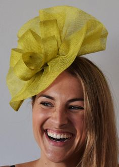 Tia Big Lime Green/Yellow Kentucky Derby Fascinator,Royal Wedding Hat, – The Headwear Boutique Black Fascinator, Fascinator Headband, Fascinators, Headpieces, Tea Hats, Tea Party Hats, Kentucky Derby Fascinator, Kentucky Derby Hats, Races Fashion