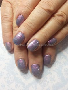 First gel violet diamonds polish