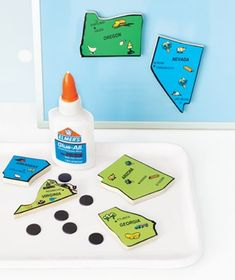 puzzle pieces as refrigerator magnets, keep littles busy, or just decorate the frig for a bit with it, then switch