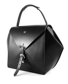 Hexane Hand Bag - Black by Nicolas Theil - www.french-mode.com #nicolastheil #jewelry #leathergoods #jewels #madeinfrance #frenchdesigner #frenchmode #luxury