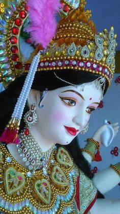 Navratri Pooja-- Awaken the Shakti within You! Lord Durga, Durga Ji, Lord Shiva, Lord Vishnu, Maa Durga Photo, Maa Durga Image, Maa Image, Navratri Wallpaper, Navratri Puja