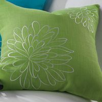 Blossom pillow cover in lime from Siganture HomeStyles.  Clearanced in our outlet at www.signaturehomestyles.biz/angelabryant.