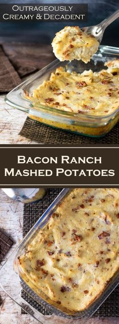 Bacon Ranch Mashed Potatoes recipe via @foxvalleyfoodie