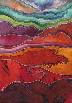 Megan Noel | American Textile and Mixed media painter | TuttArt@ | Pittura * Scultura * Poesia * Musica |