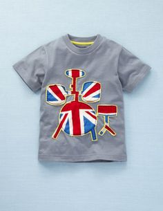 Union Jack Drum Tee - I admit I'm a sucker for anything for the boy with a union jack on it