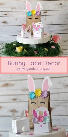 For this Easter, I have for You, this DIY Bunny Face Decor, so you can decorate the gifts to the little ones and if you dare a little more ... you can make with it the backdrop of a candy table. I hope you will enjoy making it as I did!!