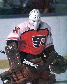 Philadelphia Flyers G Pelle Lindbergh Hockey Rules, Flyers Hockey, Ice Hockey Teams, Hockey Goalie, Hockey Stuff, Philadelphia Flyers, Philadelphia Athletics, Hockey Boards, Stars Hockey