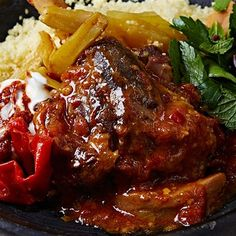 Slow cook your way to a flavourful Moroccan feast with this delicious slow-cooked lamb shank tagine recipe by celebrity chef Jamie Oliver.