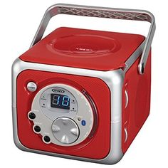 Jensen CD-555 Red Limited Edtion Portable Bluetooth Music System with CD Player +CD-R/RW & FM Radio with Aux-in & Headphone Jack Line-In by Jensen, http://www.amazon.com/dp/B01LX1CDTQ/ref=cm_sw_r_pi_dp_x_Cl1oybD98SH1V