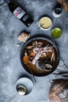 A French Supper: Saffron Bouillabaisse, Fennel Soup, and Flourless Chocolate Cake (Local Milk) Bouillabaisse Recipe, Fennel Soup, Local Milk, Flourless Chocolate Cakes, Fresh Seafood, Creative Food, Food Presentation, Seafood Recipes, Food Styling