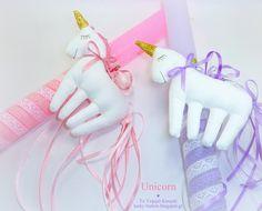 Unicorn soft toy Easter candle  Πασχαλινή λαμπάδα 2018 διακοσμημένη με υφασμάτινο μονόκερο