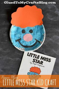 Paper Plate Little Miss Star {Kid Craft}