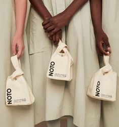 Mini Tote from NOTO to hold all the essentials Bag Packaging, Print Packaging, Takeaway Packaging, Fabric Bags, Packaging Design Inspiration, Mode Style, Fashion Bags, Essentials, Pouch