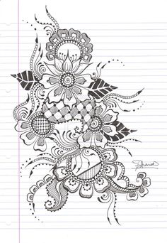 Pretty henna design tattoos