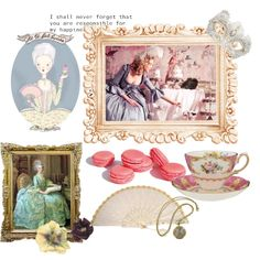 tea party with Marie Antoinette, created by kingberrypie