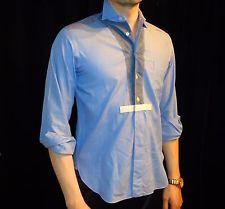 JUNYA WATANABE MAN Comme des Garcons Blue Denim Like Patchwork Shirt Size XS