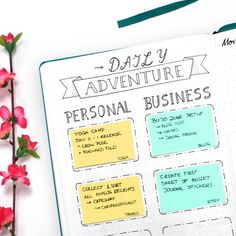 Bullet Journal Daily Adventure Goals - Wundertastisch