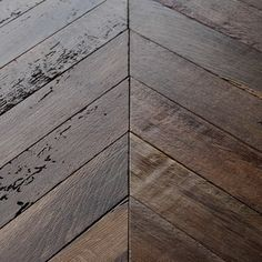 Antique French Oak Parquet Reclaimed antique French oak parquet flooring in Herringbone or Chevron Pattern. Custom milled and finished to your specificatio