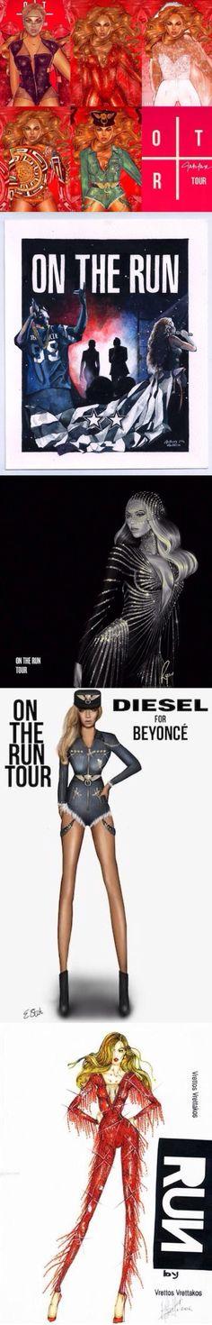 Beyonce & Jayz 'On The Run Tour' illustration