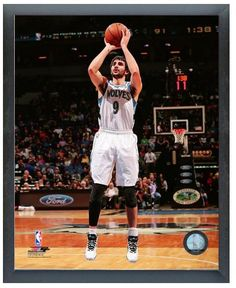 "Ricky Rubio 2013-2014 Timberwolves - 11"" x 14"" Photo in a Glassless Sports Frame"