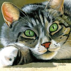 """Items similar to Realistic Custom 12x12"""" Painting of your Favorite Cat on Etsy"""
