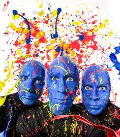 CELEBRITIES by Mike Campau, via Behance.  Blue Man Group