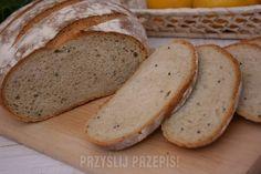 Chleb pszenny na zakwasie żytnim Bread Rolls, Banana Bread, Yummy Food, Dom, Breads, Rolls, Delicious Food, Dinner Rolls, Good Food