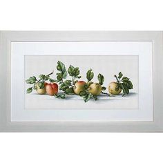 Luca-S Apples Counted Cross-Stitch Kit