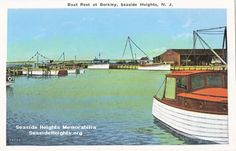 This is a postcard of the Berkeley Marina Seaside Heights NJ. The postcard is from the late 1920s early 1930s LIKE–>http://www.facebook.com/seasideheightsorg WEB–>http://seasideheights.org/ Email this card to a friend!