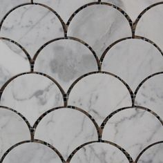 Carrara Marble Honed Fish Scale Mosaics from Surface Gallery http://www.surfacegallery.com.au/tiles/mosaic-tiles/fish-scale-mosaics