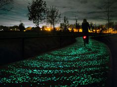 Twinkling solar bike path inspired by Vincent van Gogh's Starry Night pops up in the Netherlands.