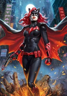 Kate Kane brings a new defender to Gotham City with the Batwoman Art Print. Once upon a time ago, Batwoman had a crush on Batman and carried a Bat Utility Purse Marvel Comics, Ms Marvel, Captain Marvel, Comics Anime, Comic Manga, Arte Dc Comics, Captain America, Comic Book Characters, Comic Character