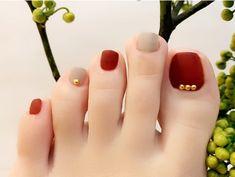 Korean Nail Art, Korean Nails, Feet Nail Design, Toe Nail Designs, Pretty Toes, Pretty Nails, Feet Nails, Fancy Nails, Stylish Nails