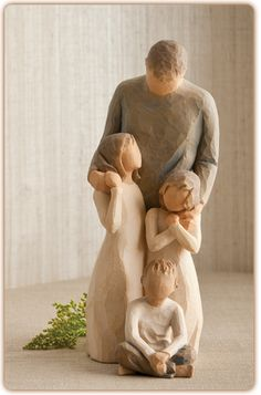 Willow Tree Figurine-Father with 3 children